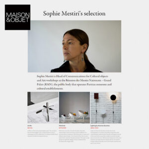 Sophie Mestiri's selection
